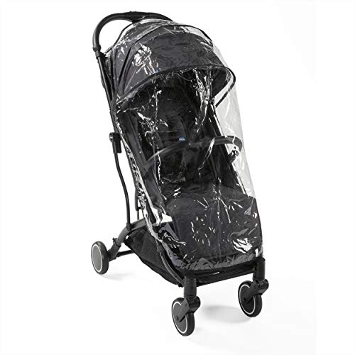 Chicco Trolley Me Lightweight Stroller Pushchair from Birth to 15 kg, Reclining and Folding Buggy with Trolley Function, Compact Closure, Rain Cover and Extendable Canopy - Grey