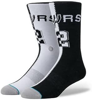 Stance Men's Leonard Split Jersey Socks Black L