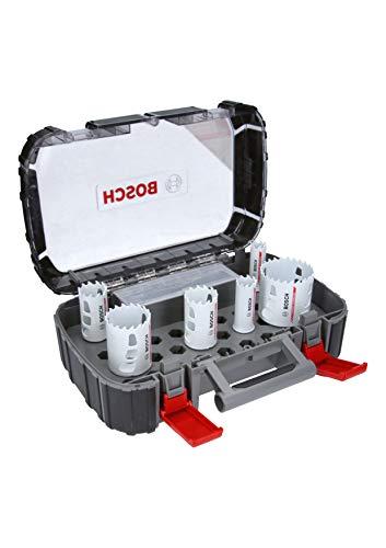Bosch Professional Endurance for Heavy Duty Set de uso universal con 8 unidades de sierras de corona de carburo (Ø 22/25/35/40/51/68mm, accesorios para taladro)