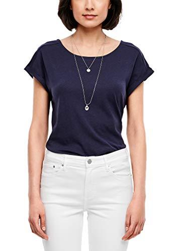 s.Oliver RED LABEL Damen T-Shirt mit Rückenausschnitt dark blue 38