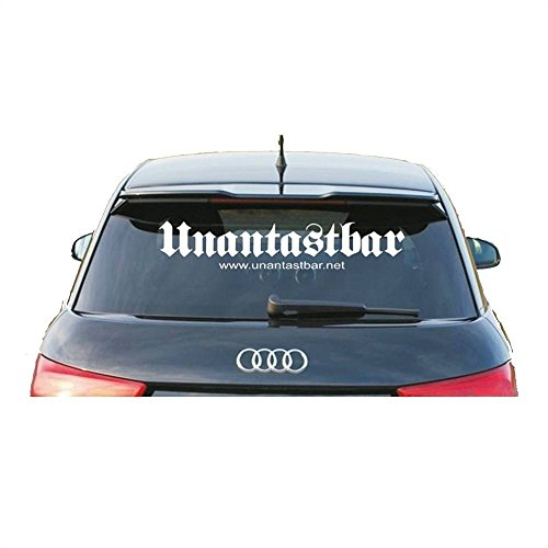 Unantastbar Logo Heckscheibenaufkleber Farbe: Weiß (Außen)