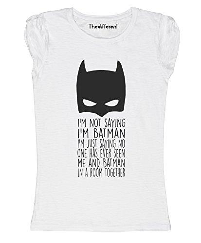 New T-Shirt Donna Fiammata Non Dico di Essere Batman Idea Regalo