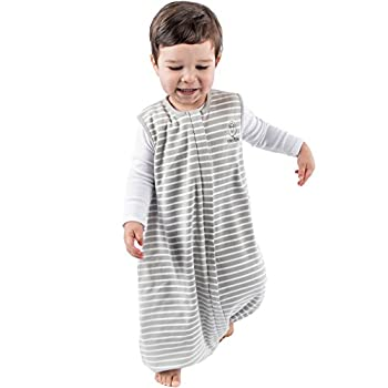 Woolino 4 Season Baby Sleep Bag with feet Merino Wool Walker Sleep Bag Sack 18-36m Gray