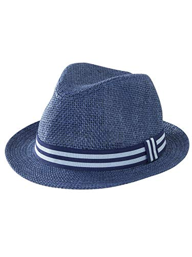 Vertbaudet Jungen Sonnenhut im Panama-Style blau 48/50