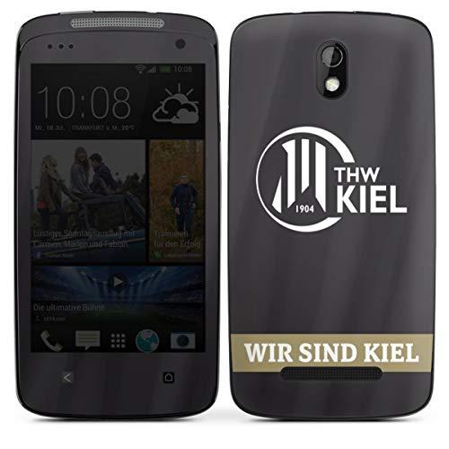 Folie kompatibel mit HTC Desire 500 Aufkleber Skin aus Vinyl-Folie Fanartikel THW Kiel Handball