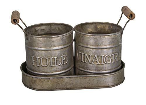 Antic Line - Öl- und Essigbehälter aus Zink