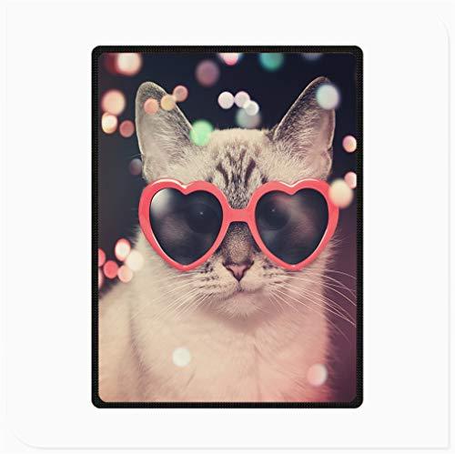 Lyy Home Manta de Felpa de Franela CáLida y CóModa, Gafas Muppet Cat con Forma De Corazón, Mantas de Franela Esponjosas y Ultra Suaves para Todas Las Estaciones, para Sofá Oficina (Size : 70'x 80')