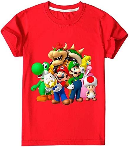 AMCYT Super Mario - T-Shirt e pantaloni, 2 set, felpa con assorbimento, (Super Mario 3,120)