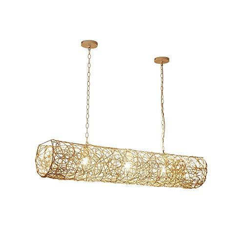 Luz colgante moderna Araña hueca de doble cabeza creativa, vid de hierba hecha a mano E27 Transmisión de alta luz Lámpara de araña, 70 × 20cm Adecuado for sala de estar, dormitorio, comedor Iluminació