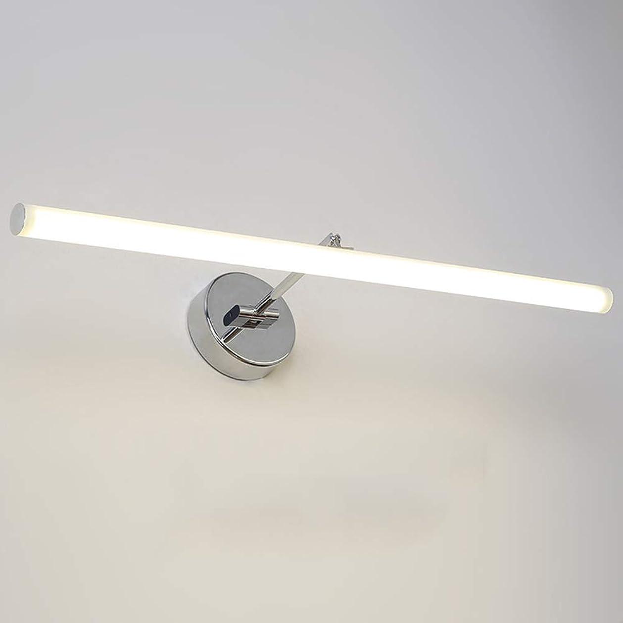 マーケティング打撃値する導かれた虚栄心の照明ヨーロッパ式の簡単な反霧の防水ミルクの白い管の調節可能なミラーのキャビネットライト浴室ミラーのヘッドライト-51CM warm