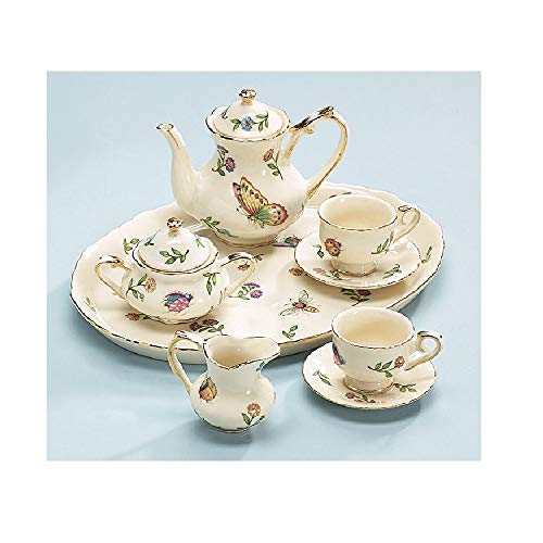 Price comparison product image Miniature Porcelain Insect Teaset Beautiful Collectible(Pattern may Vary :Butterfly / Dragonfly / lady bugs / bees )