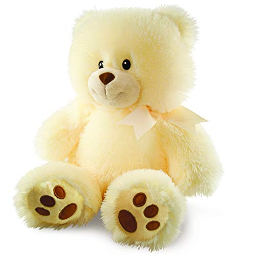 Cuddle Barn Cuddles the Cub Teddy Bear, Musical Stuffed Animal Plush Toy for Babies Glows and Plays 5 min Melody of 'Brahm's Lullaby' to Soothe Babies to Sleep, 14'
