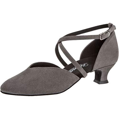 Diamant Zapatos de baile para mujer 107-013-009, piel de ante gris, ancho...