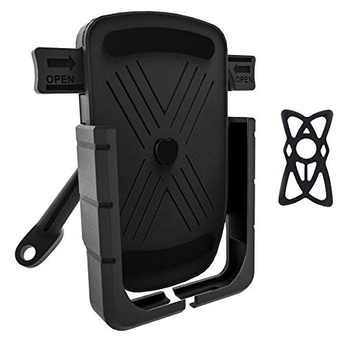 Esenlong Soporte para Teléfono de Motocicleta Soporte para Teléfono Móvil con Montaje en Espejo Retrovisor para Teléfonos Móviles de 4 7 6 5 Pulgadas (Negro)