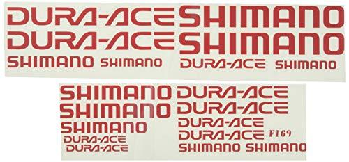 Ecoshirt MD-HEJT-5R0Y Pegatinas Shimano Dura Ace F169 Vinilo Adesivi Decal Aufkleber Клей MTB Stickers Bike, Rojo