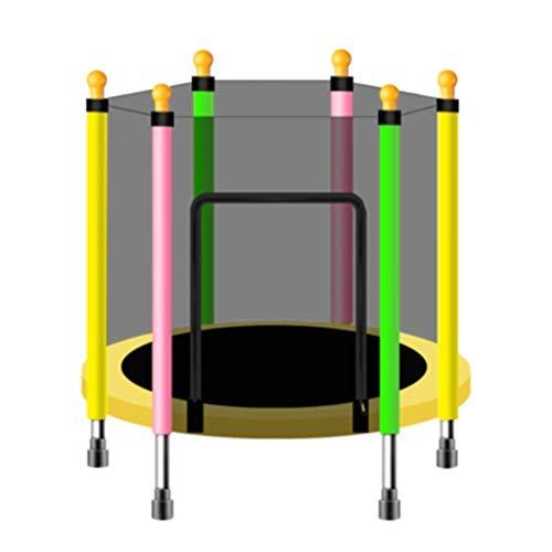 mDesign Trampoline met behuizing Net, Kids Indoor Trampoline Veiligheid Rebounder Lente Pad Mini Oefening Trampoline Help Kinderen Groeien en spelen