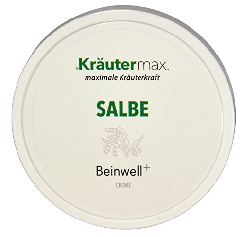 Kräutermax Beinwell Salbe 1 x 100 ml - Hautcreme aus Beinwell, Rosmarin und Wacholderöl - Hautcreme im Tigel zum Auftragen und zur Einreibung