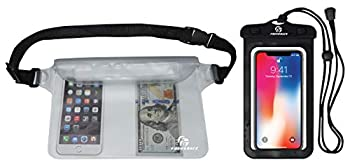 Freegrace Waterproof Pouch with Waist Strap/Pouch Case Bundle Set- Keep Your Phone & Valuables Dry and Safe - Waterproof Dry Bags for Boating Swimming Snorkeling Kayaking Beach Water Parks Pool
