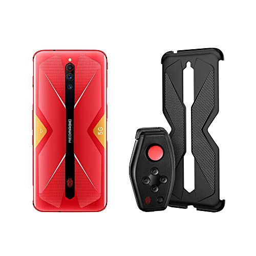 Nubia RedMagic 5G Teléfono 8GB RAM + 128GB ROM | Gaming Phone | Smartphone |Versión de la EU teléfono móvil(Rojo) + (Gamepad + Funda de protección para el Mango)