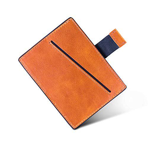 LØWENHERZ Mini Wallet — Aaron mit RFID Schutz — Langlebiges Kreditkartenetui für Herren aus Premium Echtleder — Bis zu 10 Karten inkl. Pull-Strap in Cognac Braun
