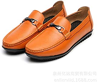 JietaodianziAU Mens Shose Leather Peas Shoes Men's Lightweight Foot Lazy Shoes, Shoes