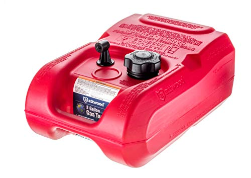 Attwood 8803LP2 EPA and CARB Certified Portable Boat Gas Tank, 3 Gallon Capacity
