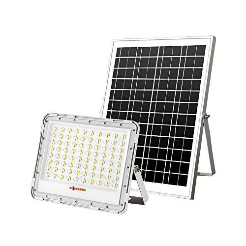 Solar Foco Proyector LED para Exteriores Pantalla de Energía, IP67 Luz de...