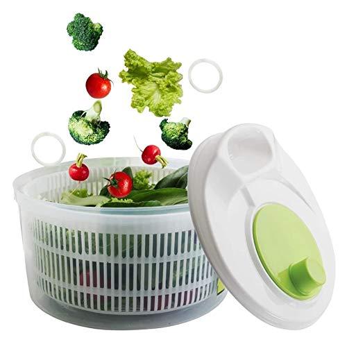 Centrifuga per Insalata Rondella per Verdure Frutta Veggie Bowl Contenitore per Acqua Pieghevole Set Essiccatore Disidratatore per Insalata Efficiente Asciugatura Facile