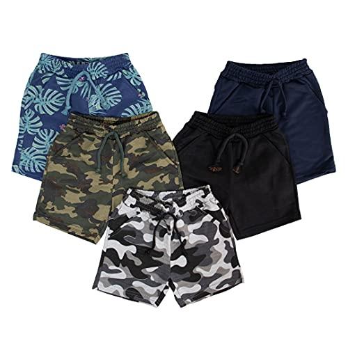 Kit 3 Peças Bermuda Moletom Juvenil 100% Algodão Desenho do tecido:Estampado/Sortido;Tamanho:14
