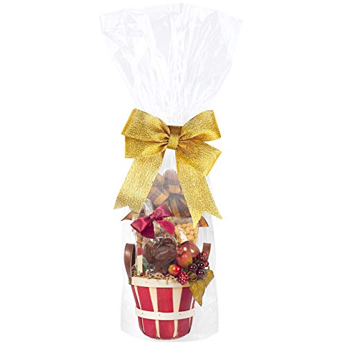 Cellophane Bags 10x20 Inches,20 Pcs Cellophane Gift Bags for Small Baskets, Mugs and Gifts