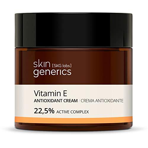 Skin Generics | Crema Facial Antioxidante 50 ml | 20,5% | con Vitamina E | Elimina Radicales Libres | Crema Facial Mujer que Fomenta la Elasticidad y la Síntesis de Colágeno | 100% Vegano