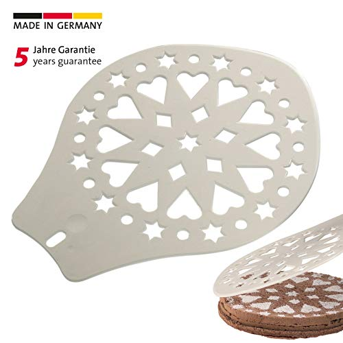 Westmark Torten-/Kuchenheber und Verzierschablone, Durchmesser: 28,2 cm, Kunststoff, Weiß, 31412270