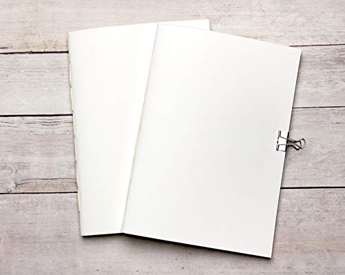 Watercolor Travelers Notebook Insert Bundle in A5 (5.8x8.25), Two Notebooks