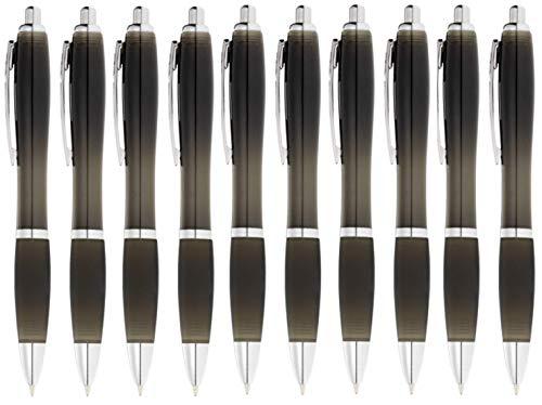 StillRich Industries 50 Stück schwarze Regenbogen Kugelschreiber Set Premium Kulli, ballpoint pen, hochwertige, ergonomische und blauschreibende Kugelschreiber (schwarz)