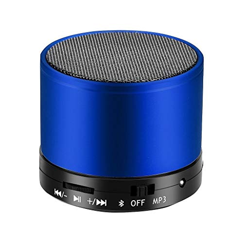 Hancoc Azul recargable inalámbrico Bluetooth altavoz portátil mini subwoofer tarjeta roja reproductor MP3 Cannon altavoces inalámbricos