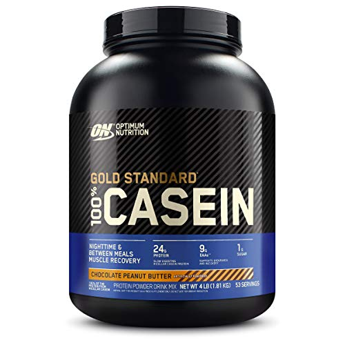 Optimum Nutrition Gold Standard 100% Micellar Casein Protein Powder, Slow Digesting, Helps Keep You Full, Overnight Muscle Recovery, Chocolate Peanut Butter, 4 Pound (Packaging May Vary)