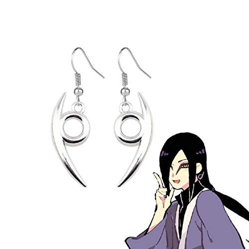 HNFGH Pendientes Cosplay Osnake Maru, Tachuelas Colgantes de Anime Naruto, Accesorios para Disfraces Pendientes, Regalo para Fans, 1 par