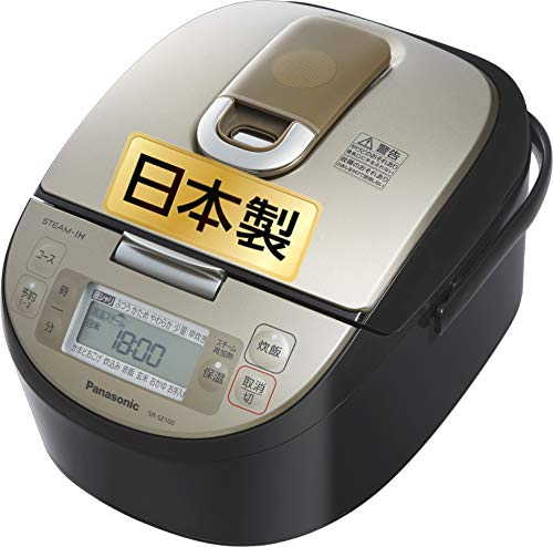 パナソニック  炊飯器 5.5合 スチームIH式 ダイヤモンド竈釜 ブラック SR-SZ100-K