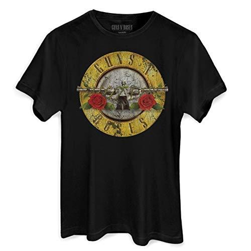 Camiseta Guns N' Roses Bullet Oficial Masculina (P)