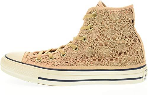Converse - Chuck Taylor All Star hi Crochet - Zapatillas Altas - Light Gold/White/Navy