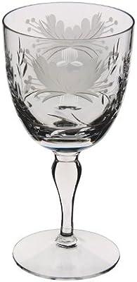 Royal Brierley Honeysuckle Goblet Wine Glass, Clear