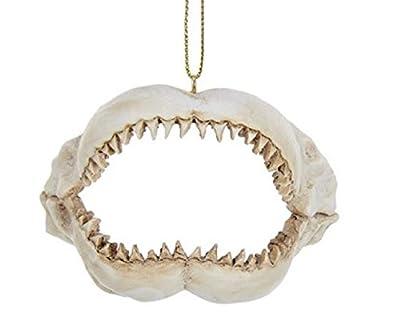 """Kurt Adler 2 375"""" Resin Shark Jaws Ornament"""