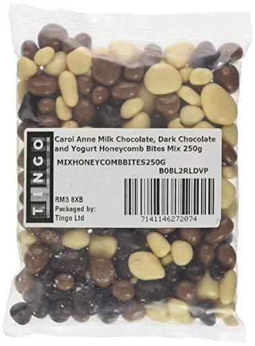Carol Anne Milk Chocolate, Dark Chocolate and Yogurt Honeycomb Bites Mix, 0.25 kg, 250-count