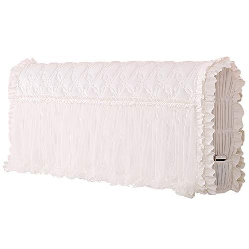 Renbin Bett Kopfteil Husse Thick Elastic, 360 ° All-Inclusive Bed Headboard Cover Bettkopf RüCkenschutz, Staubdichte, Kratzfeste, Waschbare Kopfteilabdeckung,(White-150cm)
