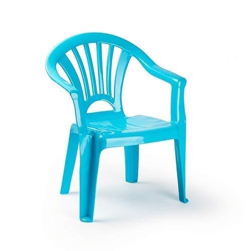 CABLEPELADO Silla Infantil plastico (Azul)