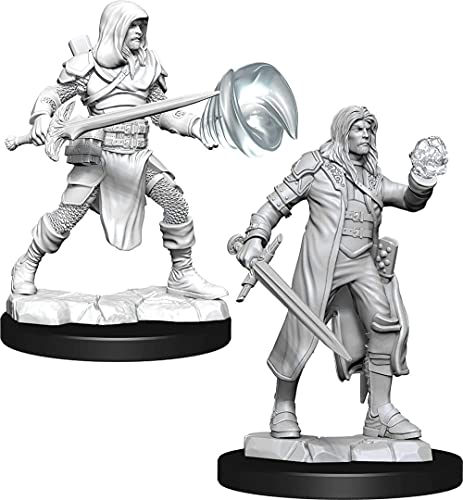 Dungeons & Dragons D&D Nolzur's Marvelous Unpainted Miniatures: Multiclass Fighter + Wizard Male