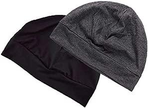 Headshion Skull Cap, Men & Women Multifunctional Headwear Bike Hard Hat Helmet Liner Cotton Beanie Sleep Caps - 2 Pack
