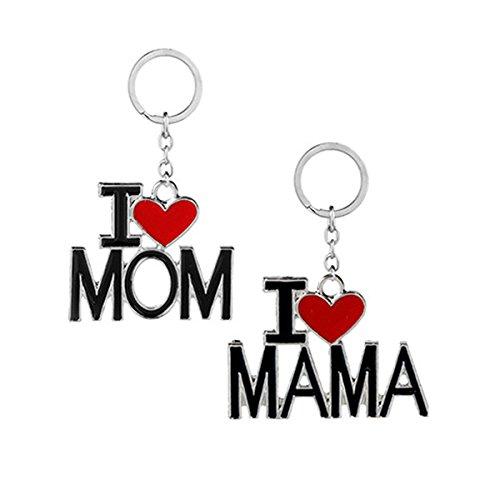 Tinksky Me encanta mamá llavero te amo MAMA llavero para el día de la madre mamá regalo 2-pack