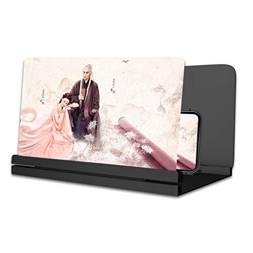 GFHJ1201 Mobiltelefon Bildschirm Verstärker 3D Phone Screen Magnifier Verstärker, HD-Bildschirm Vergrößerer Verstärker, Heim Smartphone Telefonbildschirm-Projektor (Color : Black, Size : 16inch)