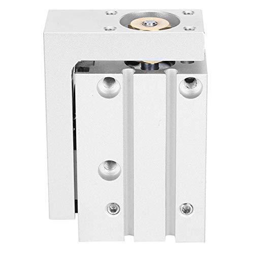 Cilindro de aire neumático Riel de guía Cilindro de mesa deslizante firme Cilindro ecológico de doble acción para la industria con velocidad de pistón de 50~500 mm(MXH16-30)